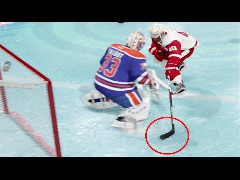 TRICK SHOTS - NHL 18 - Datsyuk Goal, Through the Legs Goal (NHL 18 Gameplay)
