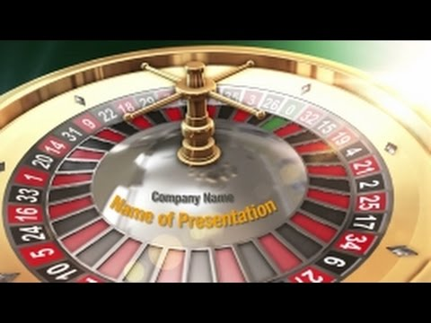 Roulette PowerPoint Video Template Backgrounds - DigitalOfficePro #01226V