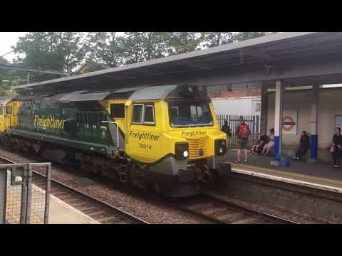 Class 70014 Passing Highbury & Islington