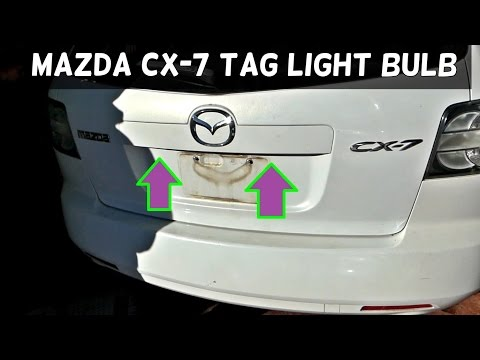 MAZDA CX-7 CX7 TAG LICENSE PLATE LIGHT BULB REPLACEMENT REMOVAL