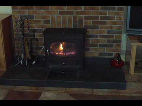 wood burner slate hearth