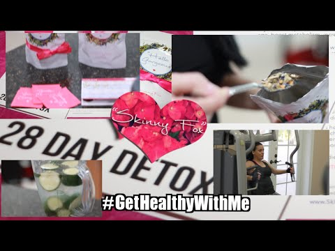 #GetHealthyWithMe SkinnyFox Detox + Healthy Snacks + Exercise | Pink Orchid Makeup