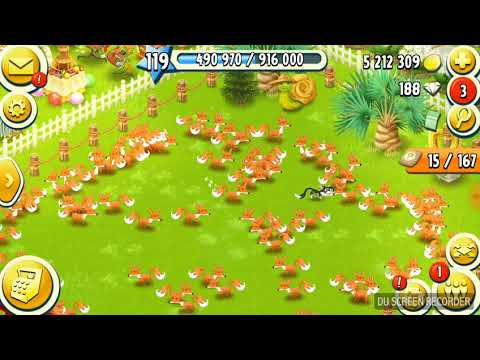 LEVEL 119 HAYDAY | I GOT 1000 FOXES!!!