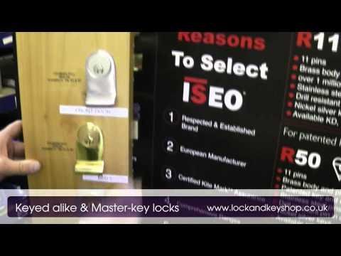 Keyed alike and masterkeyed locks from www lockandkeyshop.co.uk