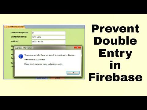 Prevent double entry in Firebase database