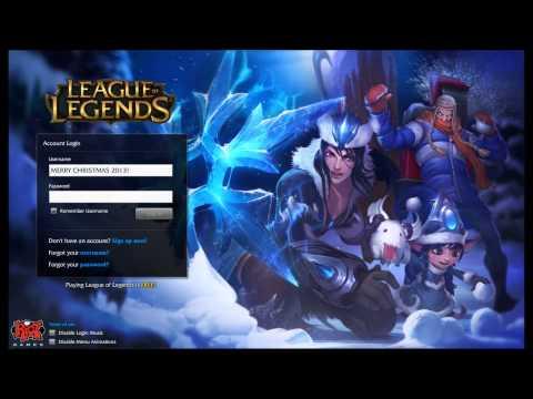 League of Legends Snowdown Showdown 2013 Login Screen + Music