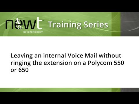 How to Leave a Voicemail Message direct at another extension on a Polycom 550 or 650