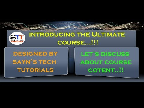 Introducing The Ultimate Course Designed by Sayn's Tech Tutorials