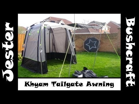 Khyam Tailgate Awning For My Citroen Berlingo MPV Campervan - First Look & Setup