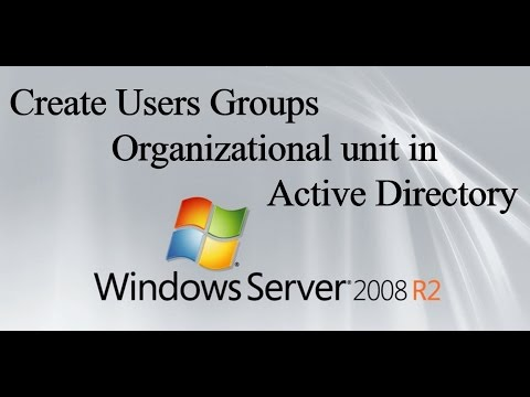 Create Users Groups Organizational Unit in Active Directory