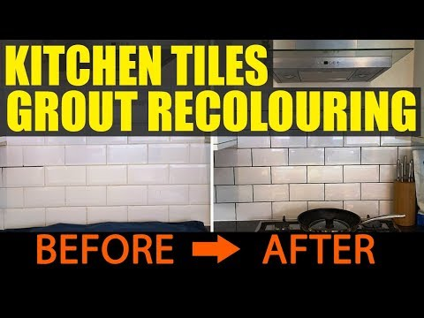 Kitchen Tiles Transformed by Grout Recolouring in Stockton Heath
