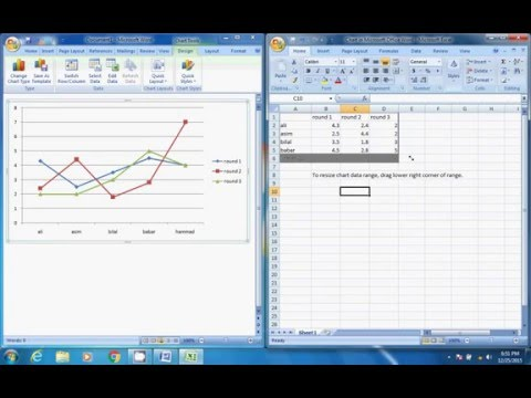 how to make line Graph on Microsoft Word (hindi/urdu)