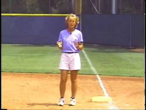 Softball Coaching: Fly Ball Communication - 1st Base