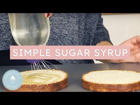 How To Make A Simple Sugar Syrup | Georgia's Cakes