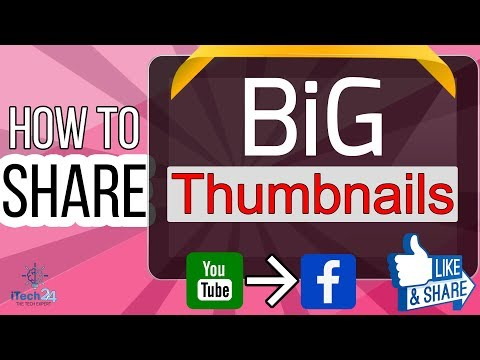 How To Share YouTube Videos With BIG thumbnail in facebook