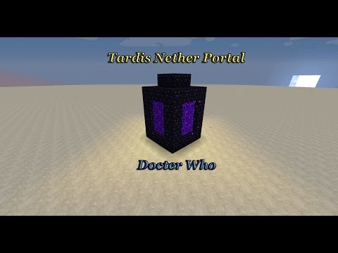 How to build a Tardis looking nether portal in Minecraft