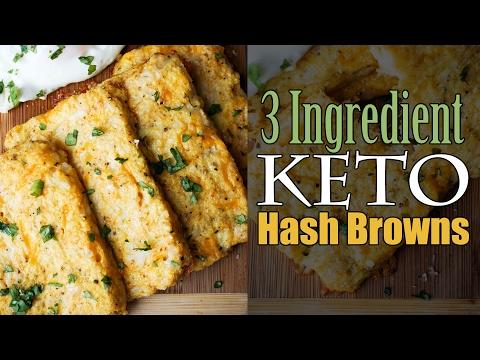 Easy Cauliflower Hash Browns | 3 Ingredients | Keto | Low Carb