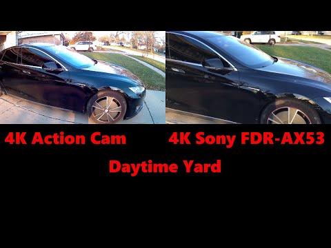 $30 4k Menards Action Cam  VS $1000 Sony AX53