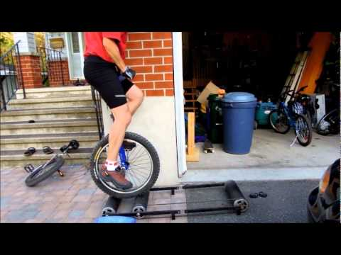 Rollers with Bikes and Unicycles