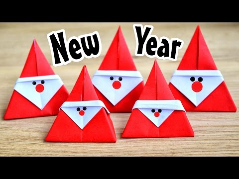 Very simple Santa Claus from the paper | New Year Origami