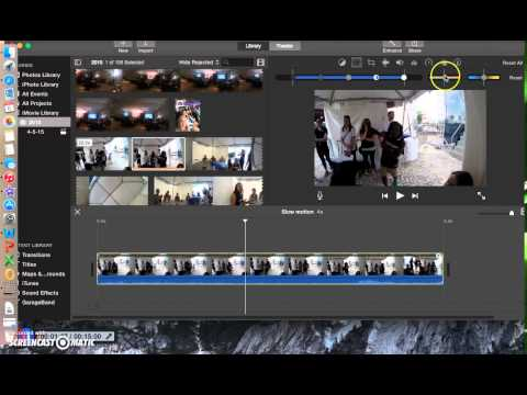 Slow Motion on iMovie