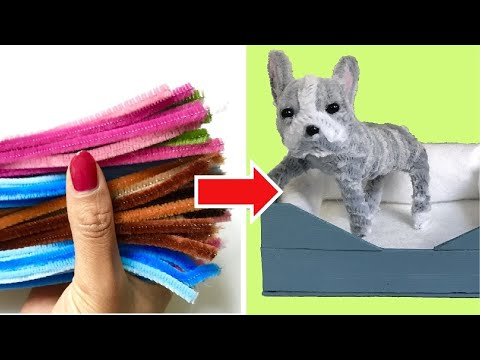 pipe cleaner crafts: miniature FRENCH BULLDOG