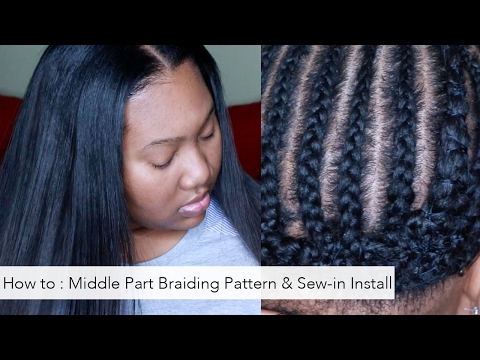 How To: Braiding pattern for a Middle part and Install Tutor