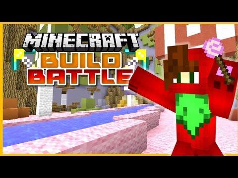 Minecraft 1.8 Hypixel Minecraft Server Build Battle Minigame ► CANDYLAND!