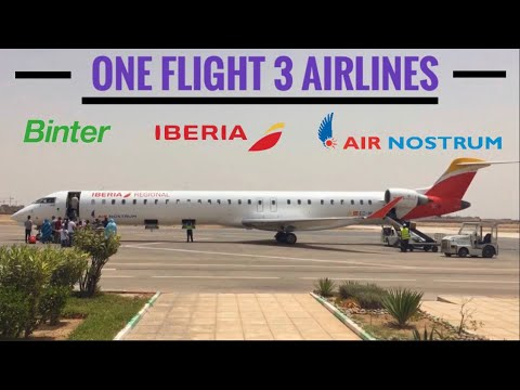 TRIPREPORT | Iberia Regional, Air Nostrum, Binter | CRJ1000 | Western Sahara - Canary Islands