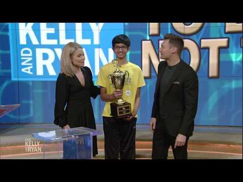Kelly & Ryan vs. 2018 Spelling Bee Winner Karthik Nemmani
