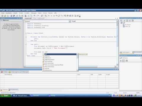 Visual Basic 2008 - PDF-File draw up and Save 1