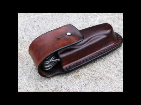 Folding knife sheath by Ost Leather