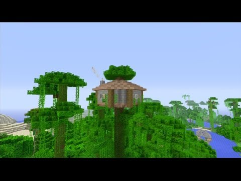 How to build an Easy Jungle Survival house in Minecraft