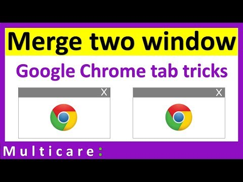 How to merge two windows in chrome