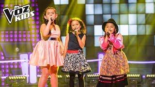 María Paula, La Carranguerita y Majo cantan No Tengo Dinero - Batallas   La Voz Kids Colombia 2018