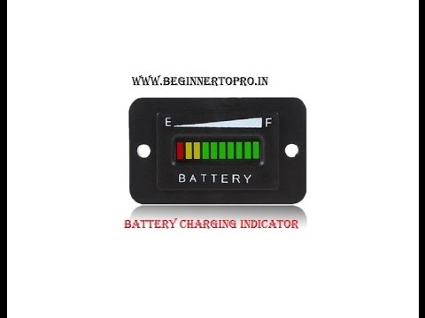 how to make a Battery Charging indicator