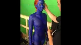Download ACTRESS Jennifer Lawrence Shows Off Her BODY in X-Men Sequel as ″MYSTIQUE″ Video