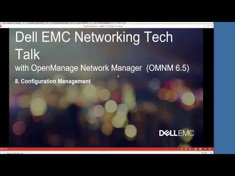 OMNM 6.5 – Configuration Management – Backup Restore Deploy
