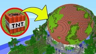 Minecraft: TNT VS PLANET EARTH!!! - Mini-Game