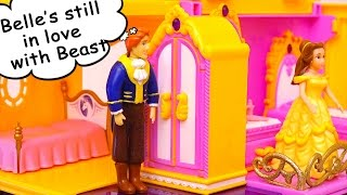 Belle Misses Beast & Adam is Jealous of Himself - Toys for Kids from the Beauty and the Beast Movie