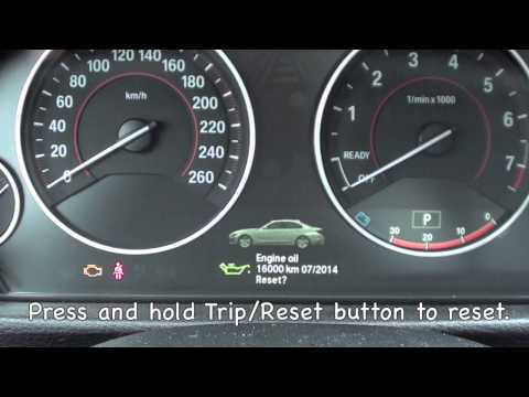 How to reset the 2012-2013 BMW Maintenance light (oil, brake, service)