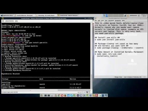 YUM Delete / Remove Old Kernels on Fedora, CentOS, Red Hat (RHEL)