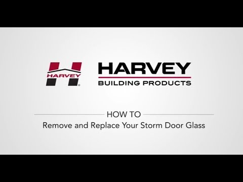 How To Remove and Replace Your Storm Door Glass