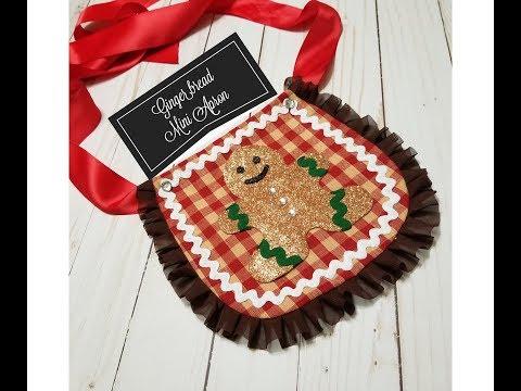 Gingerbread Mini Apron DIY | Kids Apron Tutorial