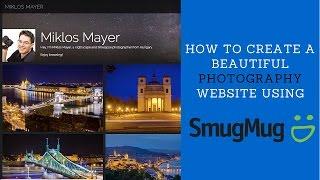 Create a photography website using SMUGMUG.COM (+20% discount code)