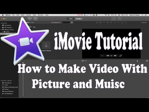 How to make Video with Picture and Music in iMovie