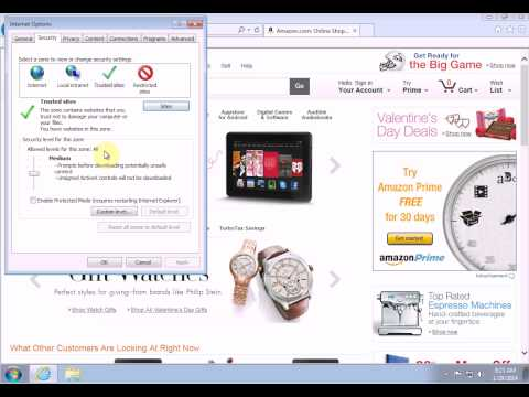 Fixing Problems in Internet Explorer - Part 2 (Trusted Zone)