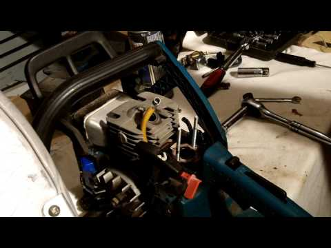 Dolmar  & Makita chainsaw fuel line replacement.