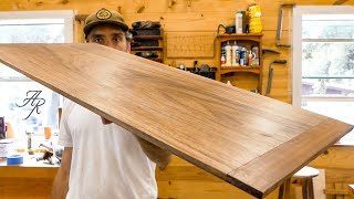 Handcrafted Walnut Cutting Board // Making Proper Breadboard Ends Using Hand Tools Only