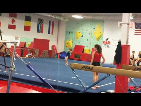 ALLIE'S 1ST TIMES NAILING HER ROUND-OFF BACK HANDSPRING BACK TUCK ON FLOOR & TUMBLING (A&A)
